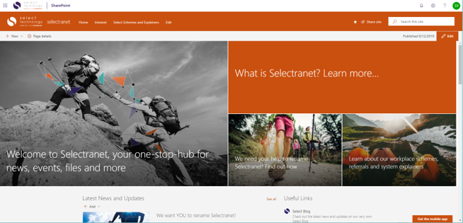 Select Intranet SharePoint