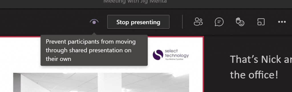Stop presenting a PowerPoint Live